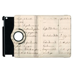 German French Lecture Writing Apple Ipad 3/4 Flip 360 Case