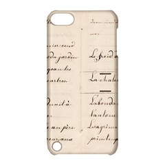 German French Lecture Writing Apple Ipod Touch 5 Hardshell Case With Stand