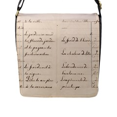 German French Lecture Writing Flap Messenger Bag (l)