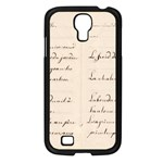 German French Lecture Writing Samsung Galaxy S4 I9500/ I9505 Case (Black) Front