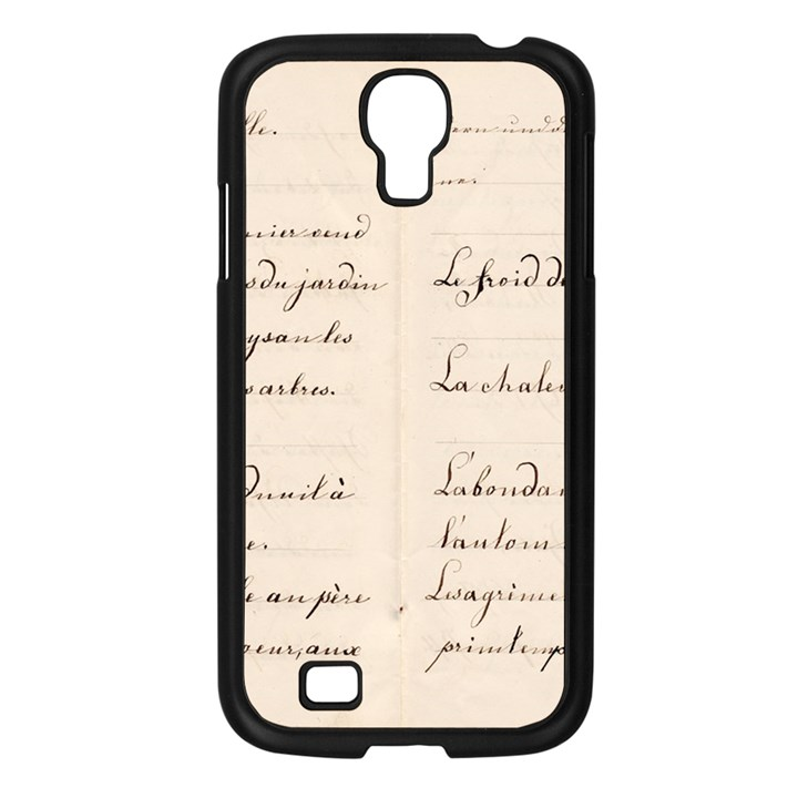 German French Lecture Writing Samsung Galaxy S4 I9500/ I9505 Case (Black)
