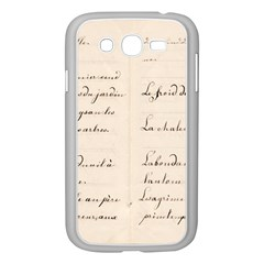 German French Lecture Writing Samsung Galaxy Grand Duos I9082 Case (white)