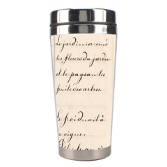 German French Lecture Writing Stainless Steel Travel Tumblers