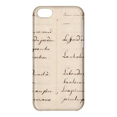 German French Lecture Writing Apple Iphone 5c Hardshell Case