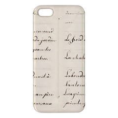 German French Lecture Writing Iphone 5s/ Se Premium Hardshell Case