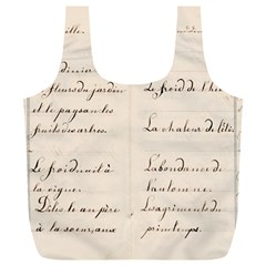 German French Lecture Writing Full Print Recycle Bags (l)