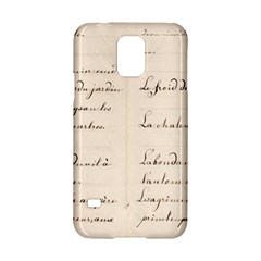 German French Lecture Writing Samsung Galaxy S5 Hardshell Case