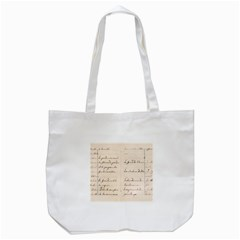 German French Lecture Writing Tote Bag (white)