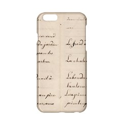 German French Lecture Writing Apple Iphone 6/6s Hardshell Case