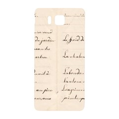 German French Lecture Writing Samsung Galaxy Alpha Hardshell Back Case