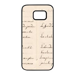 German French Lecture Writing Samsung Galaxy S7 Edge Black Seamless Case