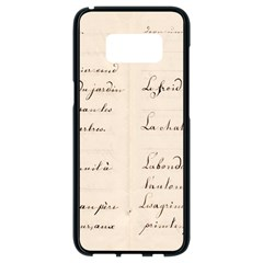 German French Lecture Writing Samsung Galaxy S8 Black Seamless Case