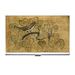 Birds Figure Old Brown Business Card Holders