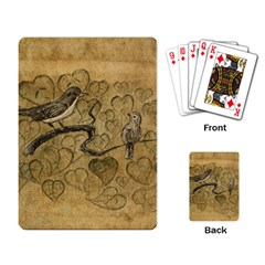 Birds Figure Old Brown Playing Card