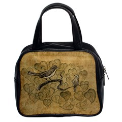 Birds Figure Old Brown Classic Handbags (2 Sides)