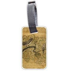 Birds Figure Old Brown Luggage Tags (two Sides)