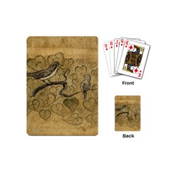 Birds Figure Old Brown Playing Cards (mini)