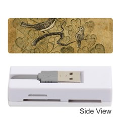 Birds Figure Old Brown Memory Card Reader (stick)