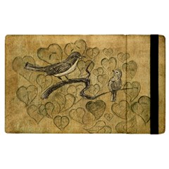 Birds Figure Old Brown Apple Ipad 3/4 Flip Case