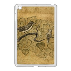 Birds Figure Old Brown Apple Ipad Mini Case (white)