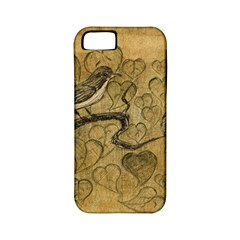 Birds Figure Old Brown Apple Iphone 5 Classic Hardshell Case (pc+silicone)