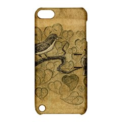 Birds Figure Old Brown Apple Ipod Touch 5 Hardshell Case With Stand