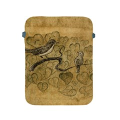 Birds Figure Old Brown Apple Ipad 2/3/4 Protective Soft Cases