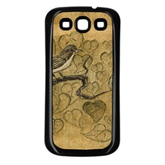 Birds Figure Old Brown Samsung Galaxy S3 Back Case (black)