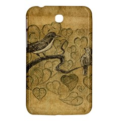 Birds Figure Old Brown Samsung Galaxy Tab 3 (7 ) P3200 Hardshell Case
