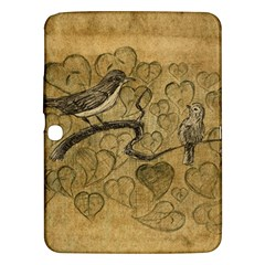 Birds Figure Old Brown Samsung Galaxy Tab 3 (10 1 ) P5200 Hardshell Case