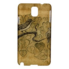 Birds Figure Old Brown Samsung Galaxy Note 3 N9005 Hardshell Case