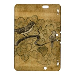 Birds Figure Old Brown Kindle Fire Hdx 8 9  Hardshell Case