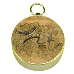 Birds Figure Old Brown Gold Compasses