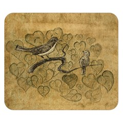 Birds Figure Old Brown Double Sided Flano Blanket (small)