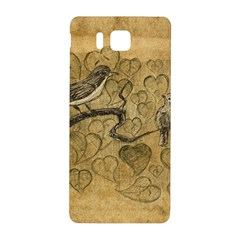Birds Figure Old Brown Samsung Galaxy Alpha Hardshell Back Case