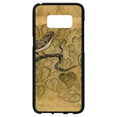 Birds Figure Old Brown Samsung Galaxy S8 Black Seamless Case