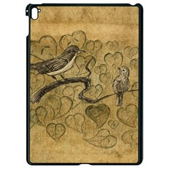 Birds Figure Old Brown Apple Ipad Pro 9 7   Black Seamless Case