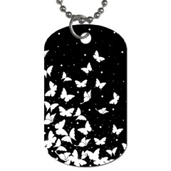 Butterfly Pattern Dog Tag (two Sides)