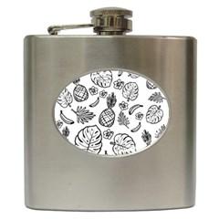 Tropical Pattern Hip Flask (6 Oz)