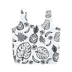 Tropical Pattern Full Print Recycle Bags (m)