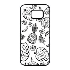 Tropical Pattern Samsung Galaxy S7 Edge Black Seamless Case