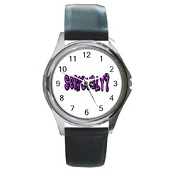 Seriously Round Metal Watch