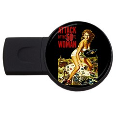 Attack Of The 50 Ft Woman Usb Flash Drive Round (2 Gb)
