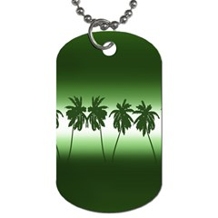 Tropical Sunset Dog Tag (two Sides)