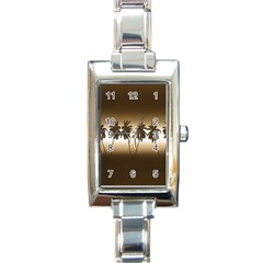 Tropical Sunset Rectangle Italian Charm Watch