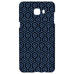 Hexagon1 Black Marble & Blue Colored Pencil Samsung C9 Pro Hardshell Case
