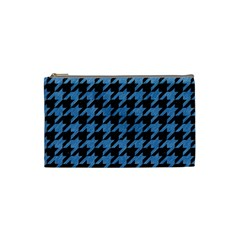 Houndstooth1 Black Marble & Blue Colored Pencil Cosmetic Bag (small)