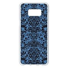 Damask2 Black Marble & Blue Colored Pencil (r) Samsung Galaxy S8 Plus White Seamless Case