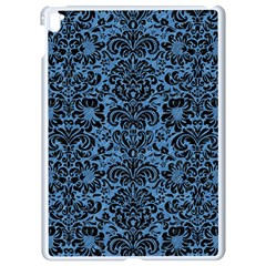 Damask2 Black Marble & Blue Colored Pencil (r) Apple Ipad Pro 9 7   White Seamless Case