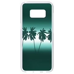 Tropical Sunset Samsung Galaxy S8 White Seamless Case